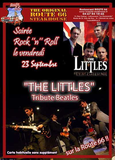 The Littles - tribute Beatles concert 23 septembre 2016 au restaurant Route 66